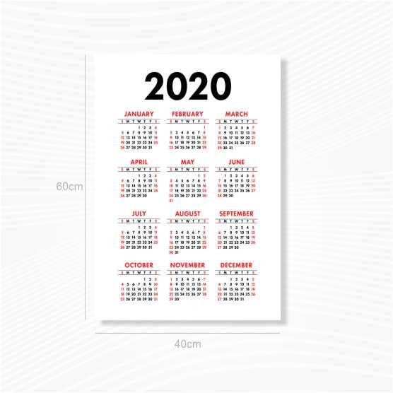 Kalender Poster 60x40cm Ac260 Gsm Tanpa Minimal Order