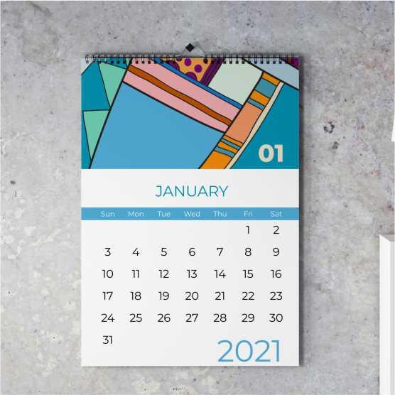 Kalender Dinding Tanpa Minimal