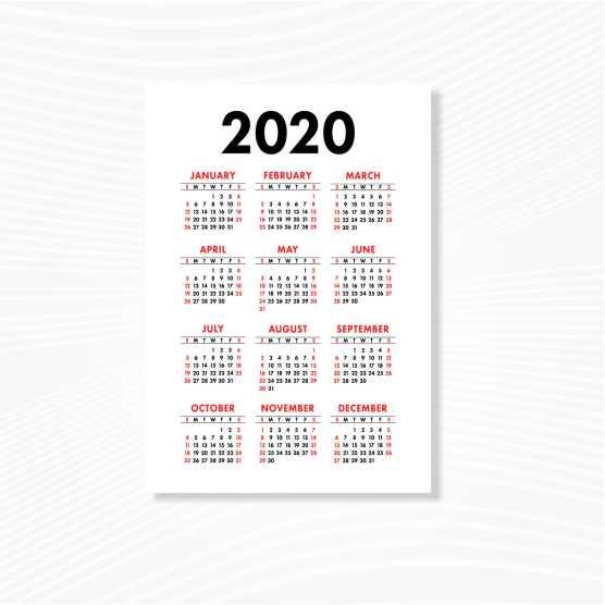 Kalender Poster A3+ Tanpa Minimal Order